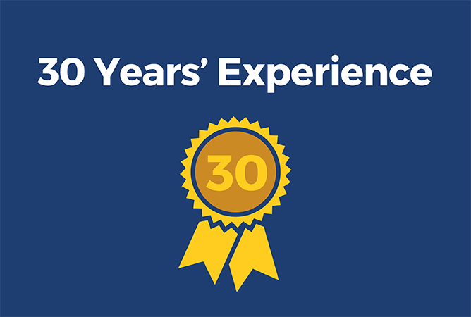 30 Years Experience